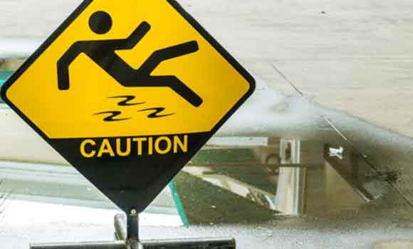 Premises Liability - Slip and Fall Warning Signs